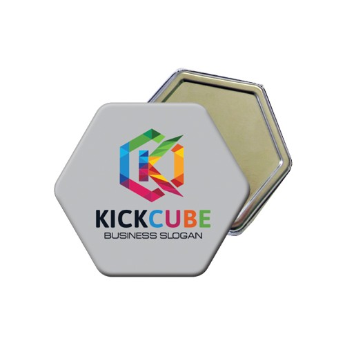 Badge hexagonal