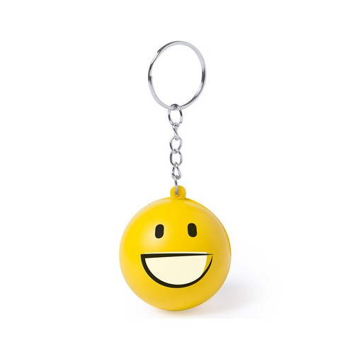 Porte clé smiley souriant