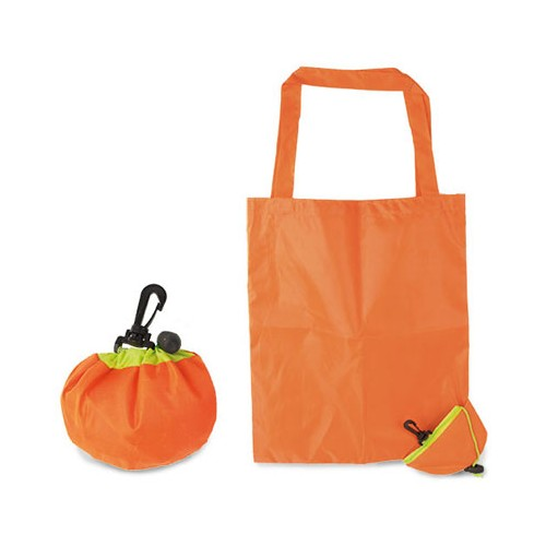 Sac shopping pliable en forme d'orange