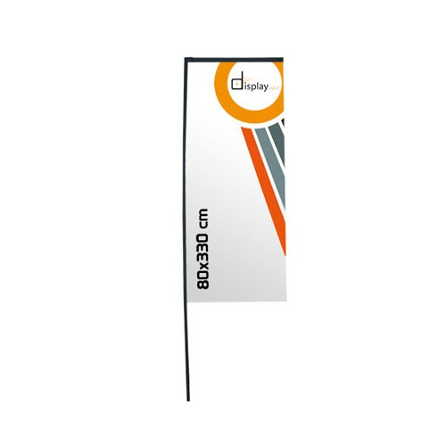 Support beach flag rectangulaire