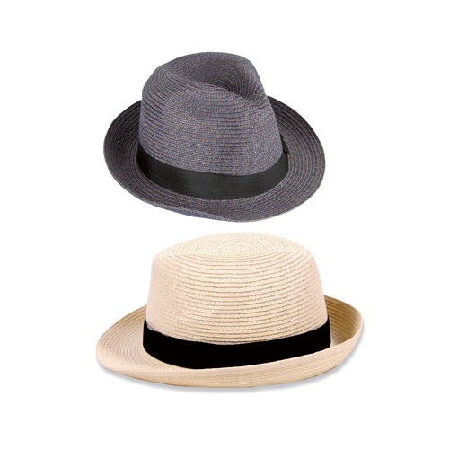 Chapeau type panama en paille flexible