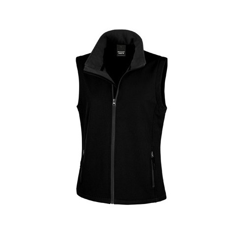 WOMENS PRINTABLE SOFT-SHELL BODYWARMER