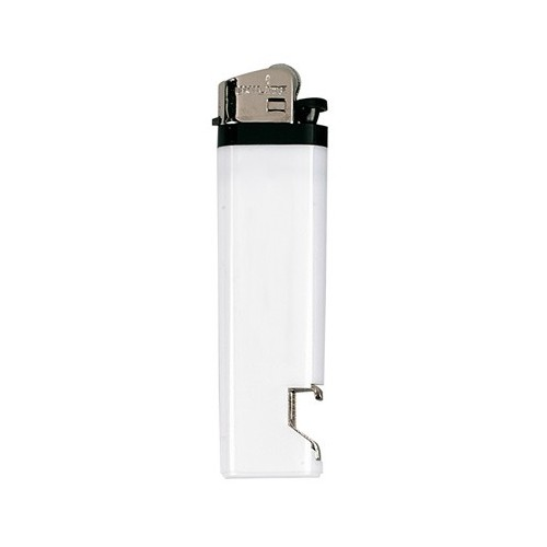 Briquet décapsuleur jetable blanc