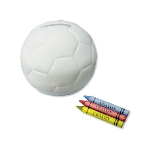 Tirelire ballon de foot a colorier