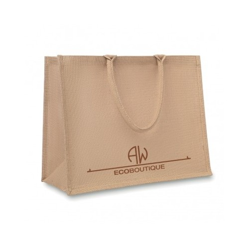 Sac shopping en jute